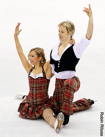 Christina Chitwood and Mark Hanretty performing at the 2010 World Championships in Turin, Italy. (Photo by Robin Ritoss)